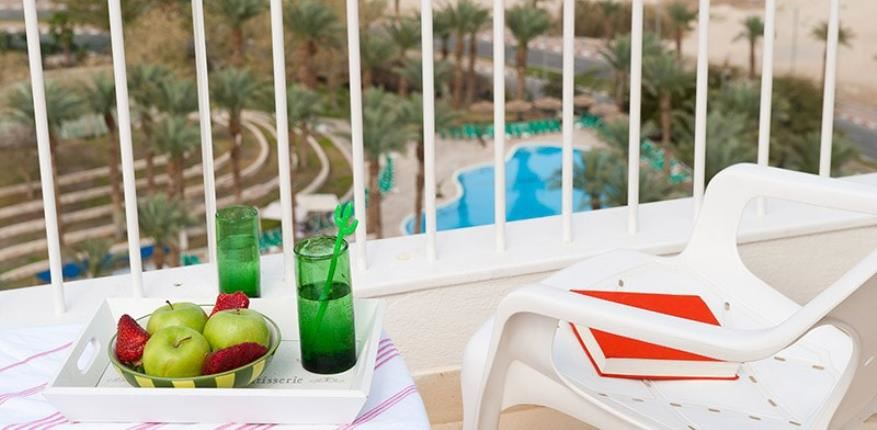 Balcony in  David Dead Sea hotel